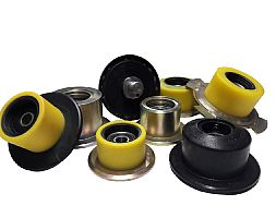 SUPPORT ROLLER WITH FLANGE