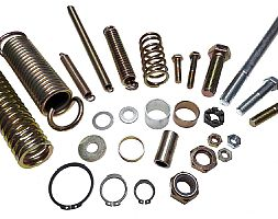 SCREWS, NUTS, BOLTS, DYSTANCE RINGS, BUSHES, SPRINGS
